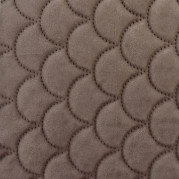 SELIMUT VELVET SCALLOP 210X210 CM - COKELAT_3