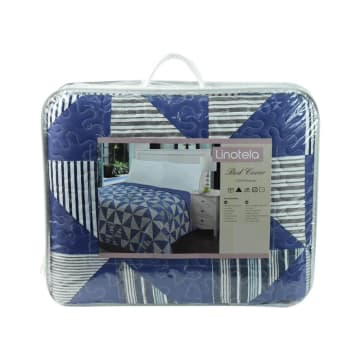 LINOTELA BED COVER NT757 240X210 CM - BIRU NAVY_3