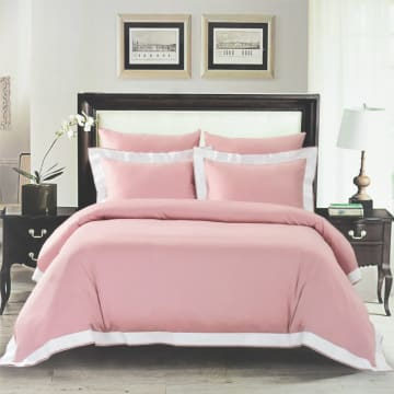 FIORE SET SEPRAI KATUN SATIN LUXURY HEM 200X200+40 CM 6 PCS - PINK_1