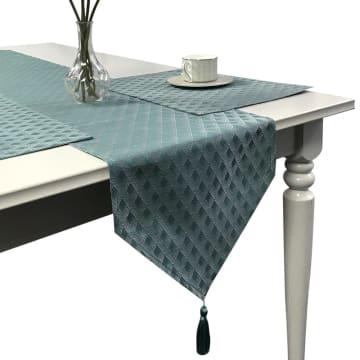 TABLE RUNNER LATTICE 33X180 CM - BIRU MUDA_3
