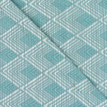 SET TATAKAN PIRING & TABLE RUNNER LATTICE - BIRU MUDA_2