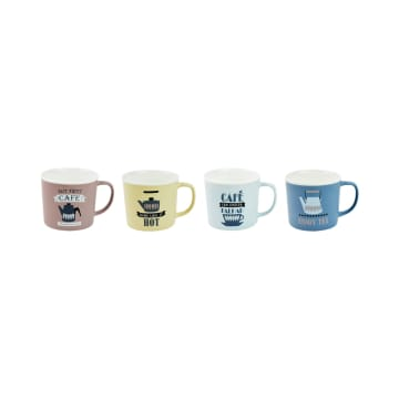 APPETITE SET MUG FIRST CAFE 350 ML 4 PCS_1