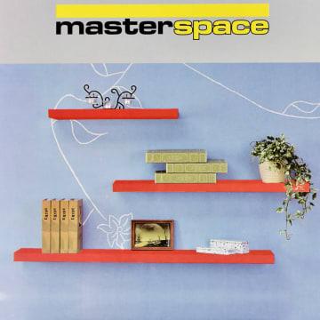 MASTERSPACE RAK DINDING 90X23X3.8 CM - MERAH GLOSSY_1