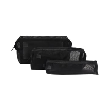 POUCH TRAVEL MESH 3 PCS - HITAM_1