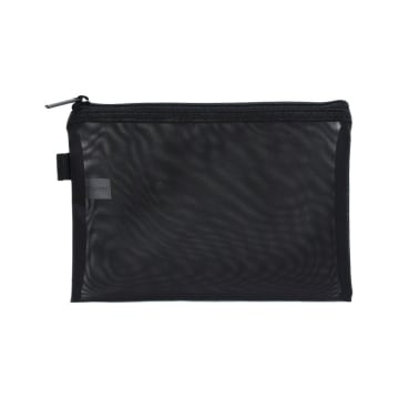 POUCH TRAVEL FLAT MESH 3 PCS - HITAM_2