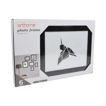 ARTHOME SET BINGKAI FOTO 6 PCS - HITAM/ABU-ABU_3