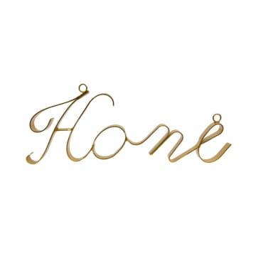 ARTHOME HIASAN DINDING METAL HOME - GOLD_1