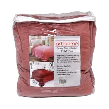 ARTHOME SELIMUT FLANEL 210X210 CM - PINK_2