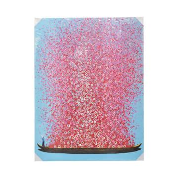 LUKISAN KANVAS FLOWERS D16 90X120X3.5 CM_1