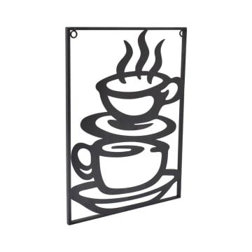 ARTHOME HIASAN DINDING METAL COFFEE 30X40 CM - HITAM_2