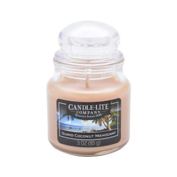CANDLE LITE CANDLE ISLAND COCONUT MAHOGANY LILIN AROMATERAPI 85 GR_1