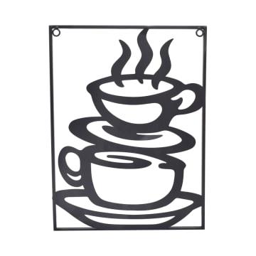 ARTHOME HIASAN DINDING METAL COFFEE 30X40 CM - HITAM_1