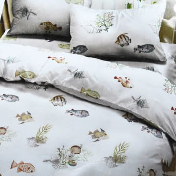 KRISHOME BED COVER FISH 150X220 CM_1