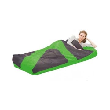 BESTWAY KASUR ANGIN ASLEPA INFLATABLE BED WITH SLEEPING BAG - HIJAU_1