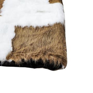 GLERRY HOME DECOR KARPET BULU SQUARE MILKY CHOCO 100X130 CM_3