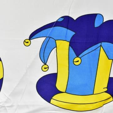 KRISHOME SET SEPRAI DAN BED COVER ANAK FOOTBALL 120X200+30 CM 4 PCS - PUTIH_2