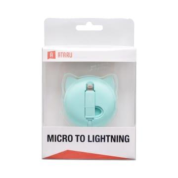 ATARU KABEL USB TO MICRO/LIGHTNING BEAR - HIJAU_1