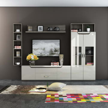 HARRODS WALL UNIT - COKELAT_1