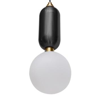 KORIN LAMPU GANTUNG HIAS 20X20X36 CM - HITAM_1