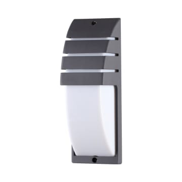 KRISBOW LAMPU DINDING OUTDOOR HALF TUBE 10W 3000K_1