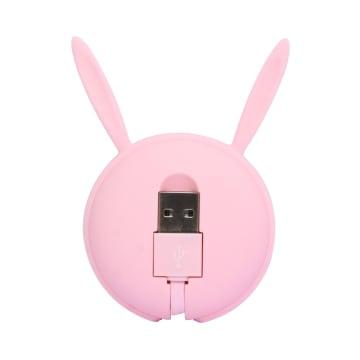 ATARU KABEL USB TO MICRO/TYPE C BUNNY - PINK_3