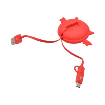 ATARU KABEL USB TO MICRO/TYPE C DEVIL - MERAH_5
