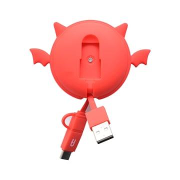 ATARU KABEL USB TO MICRO/TYPE C DEVIL - MERAH_4