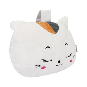 RELAS BANTAL LEHER DAKRON CUTE CAT - PUTIH_2
