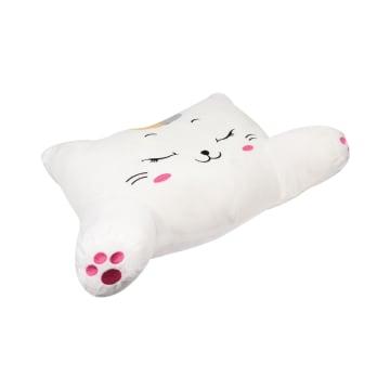 RELAS BANTAL PUNGGUNG MOBIL CUTE CAT - PUTIH_2