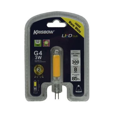 KRISBOW BOHLAM LED G4 3W 300LM - WARM WHITE_1