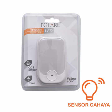 EGLARE LAMPU TIDUR DENGAN SENSOR CAHAYA - KUNING_1