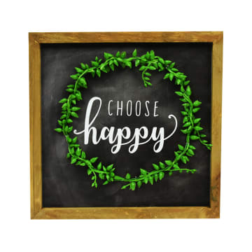 HIASAN DINDING CHOOSE HAPPY 25.5X25.5X3 CM_1