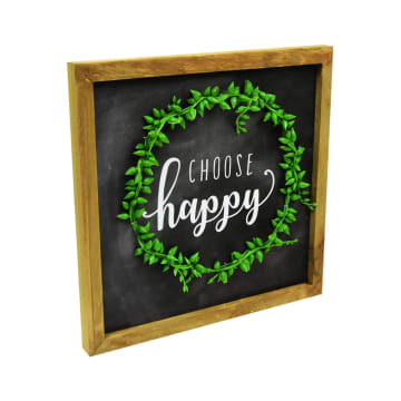HIASAN DINDING CHOOSE HAPPY 25.5X25.5X3 CM_2
