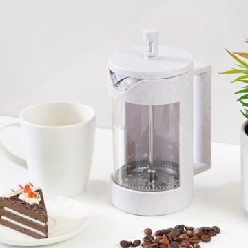 TEA CULTURE TEKO KOPI COFFEE PRESS KAWA 600 ML - PUTIH_1