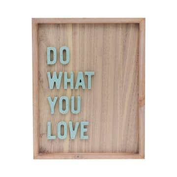 HIASAN DINDING DO WHAT U LOVE 26.8X34.3X2.5 CM_1