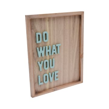 HIASAN DINDING DO WHAT U LOVE 26.8X34.3X2.5 CM_2