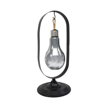 ARTHOME LAMPU MEJA TEMPAT LILN ELIPS 37.5 CM - HITAM_2