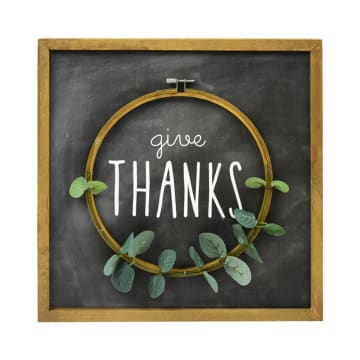 HIASAN DINDING GIVE THANKS 36X36 CM_1