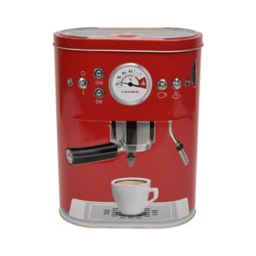 KRISHOME KOTAK PENYIMPANAN COFFEE MACHINE OVAL - MERAH_2