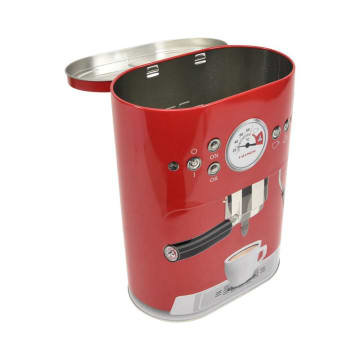 KRISHOME KOTAK PENYIMPANAN COFFEE MACHINE OVAL - MERAH_1