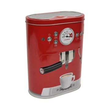 KRISHOME KOTAK PENYIMPANAN COFFEE MACHINE OVAL - MERAH_3