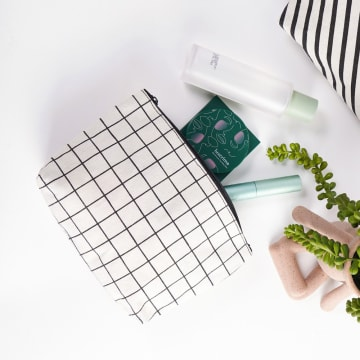ATARU POUCH CANVAS CHECKERED_1