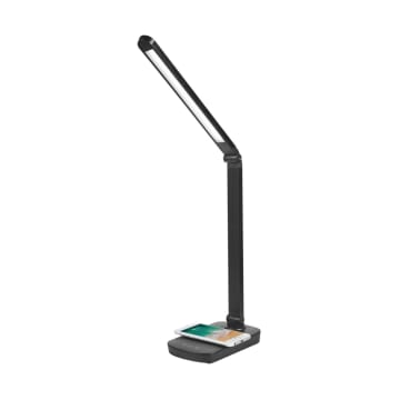 EGLARE LAMPU MEJA LED DENGAN WIRELESS CHARGING - HITAM_2