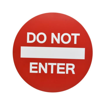 ARTHOME SIGN LABEL DO NOT ENTER 30 X 0.7 CM_1