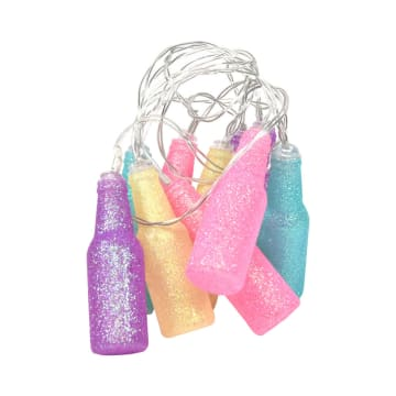 NOELLE LAMPU DEKORASI NATAL MULTICOLOR BOTTLE 10 PCS 10 L_1