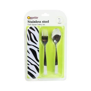 APPETITE SET ALAT MAKAN STRIPPED - HITAM_1