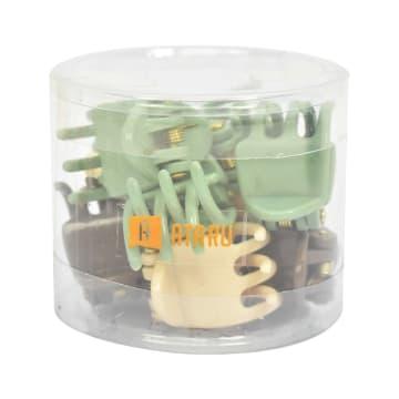 ATARU JEPIT RAMBUT MINI 10 PCS - COKELAT/HIJAU_4