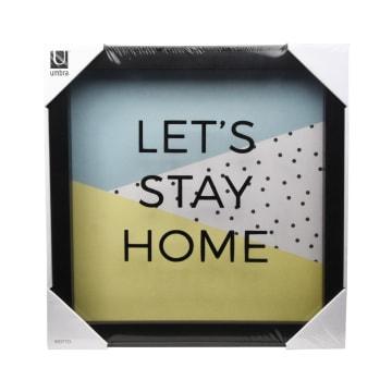 UMBRA HIASAN DINDING LETS STAY HOME 30X30X4 CM - HITAM_1