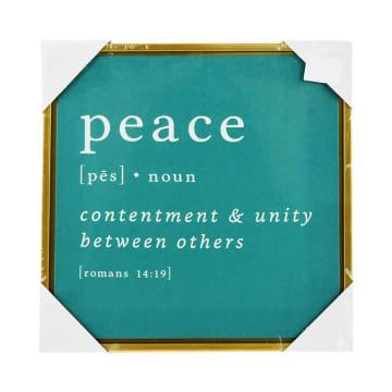 HIASAN DINDING KANVAS PRINT  PEACE XC4 30X30X2.5 CM_1