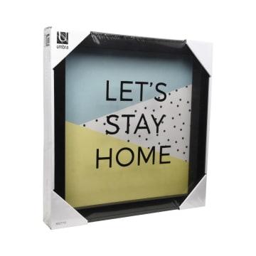 UMBRA HIASAN DINDING LETS STAY HOME 30X30X4 CM - HITAM_2